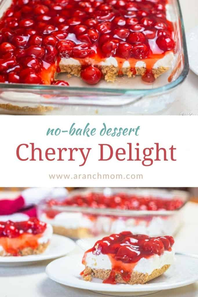 Cherry Delight Recipe pinterest image
