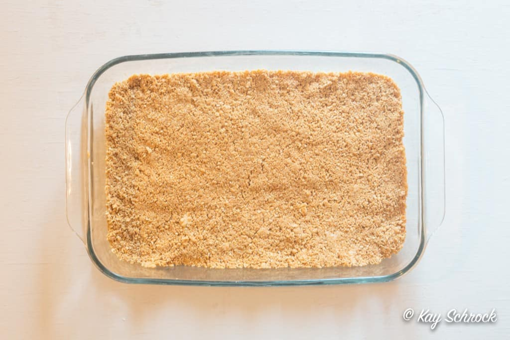 graham cracker crust in 9x13 pan