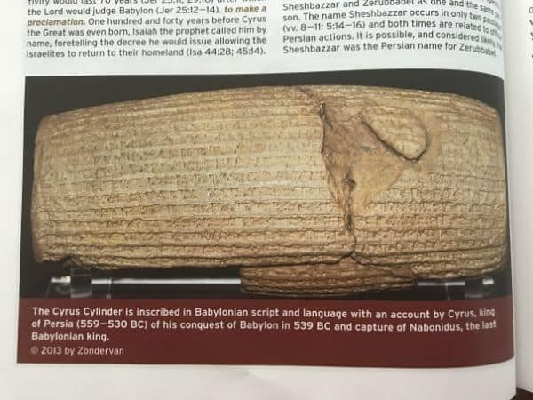 photo of a Bible page