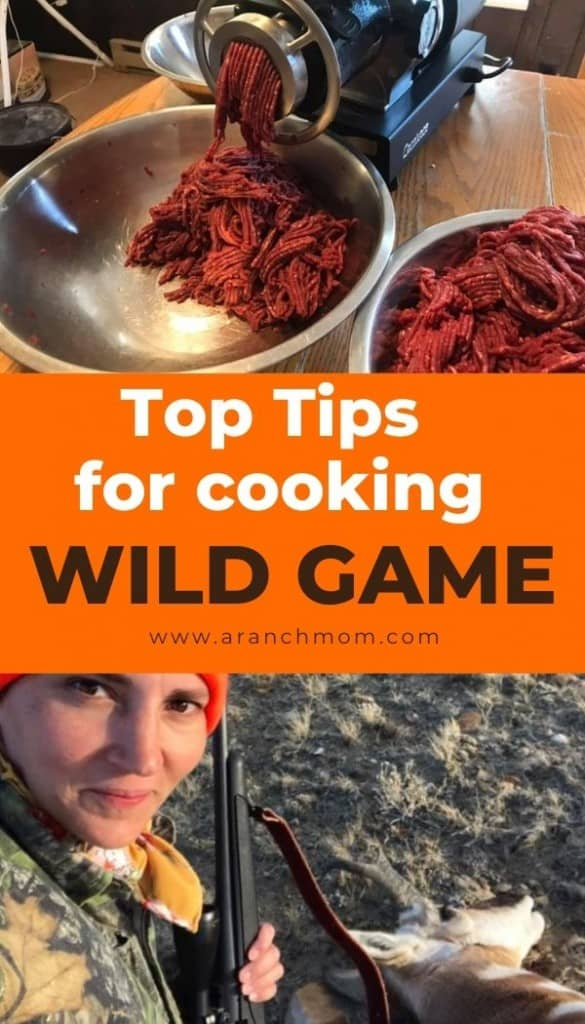 Pinterest graphic for wild game cooking tips