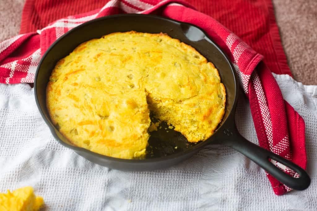 Green Chile & Cheese Cornbread