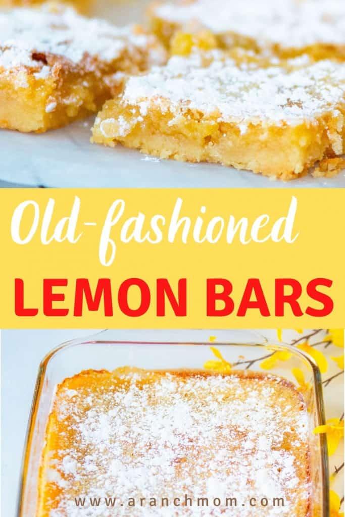 old fashioned lemon bars Pinterest image