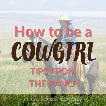 cowgirl picture with text overlay