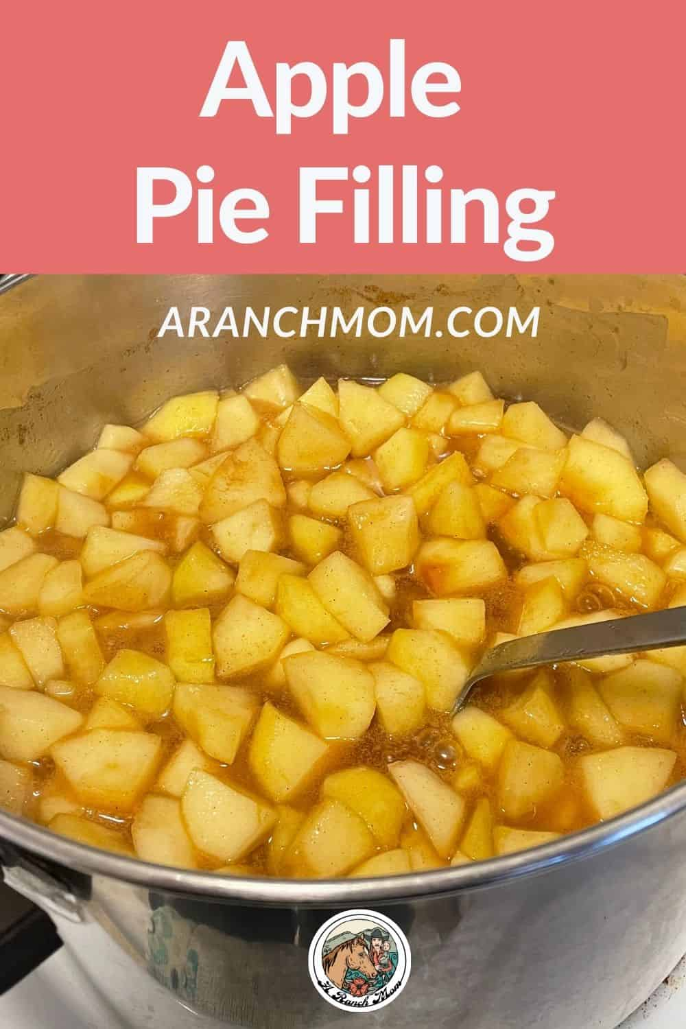 apple pie filling with text overlay