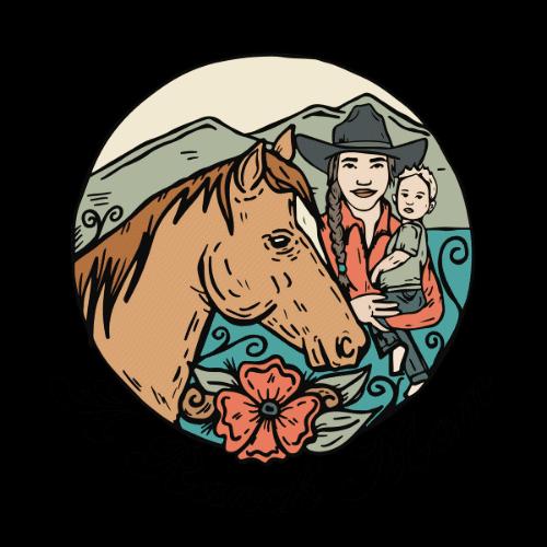 a ranch mom logo western art mom and baby